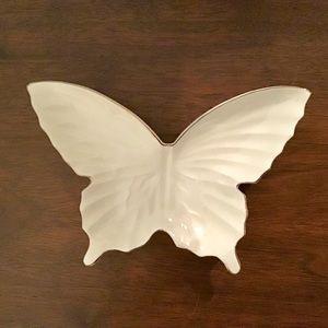 Lefton Accents - Lefton Bone China Butterfly Trinket Dish